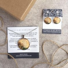 Pendant and Earrings Gift Box - Golden Flight Heart Jewelry, Wearable Art, Place Card Holders, Range, Pendant, Box, Earrings, Handmade, Gifts