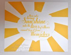 Sunny Card to Brighten Someone's Day  www.stampandscrapwithamy.blogspot.com
