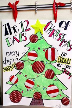 How about a fun, new way to deliver the 12 Days of Christmas this year? We introduce you to the Punch Poster! Every day's a surprise, so punch for your prize! Christmas Punch, Christmas Poster, Merry Christmas To All, Christmas Games, Christmas Activities, Christmas Countdown, Christmas Holidays, Holiday Punch, Christmas Crafts