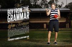 2014 AFL Record Round 3 | Sam Newman | Publication Spread