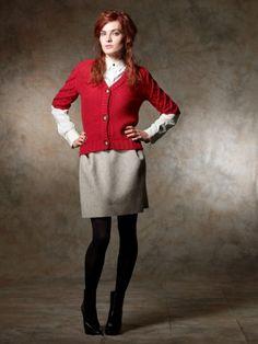 100% Cashmere V Neck Button Closure Jacket-Cashmere 1873.COM