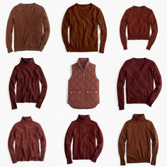My current eye candy: Warm layers from J.Crew in this season's must-have color, bronzed brown: Colorful leaves of the season lend inspiration to the bronze, copper, rust, and mahogany brown colors ...
