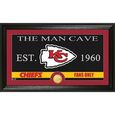 """Officially Licensed NFL """"Man Cave"""" Bronze Coin Panoramic Photo Mint - Kansas City Chiefs"""