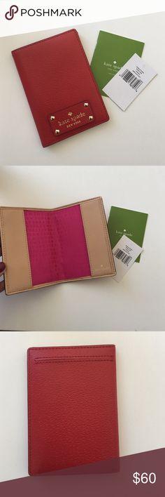 Kate Spade Wellesley Passport Holder in Red-NWT! Kate Spade Wellesley Passport Holder in Red-NWT! kate spade Bags Wallets