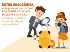 Estas vacaciones, es importante que declares los productos que ingresas al país, así nos apoyas a evitar la entrada de plagas y enfermedades. SAGARPA SAGARPAMX
