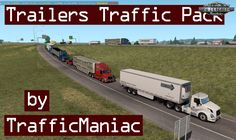 Trailers Traffic Pack By Trafficmaniac mod for Pack adds in traffic different trailers.Only quality lowpoly models – no FPS drop. Log Trailer, Dump Trailers, American Truck Simulator, Social Media Pages, Deck, Packing, Ads, Trucks, Cheetah