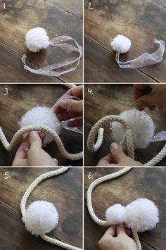 Como Hacer Pompones con Tul