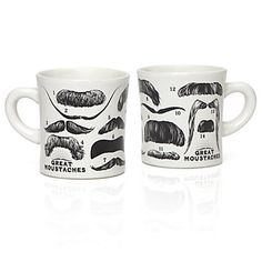 For the man with the mustache! Dad will love sipping coffee from this Great Mustaches Mug, $12.95