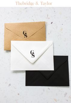 custom wedding invitations, unique wedding invitations, luxury wedding invitation, wedding inspiration, wedding style, luxury invitations, monogram wedding invitation, wedding envelope, monogram wedding envelope Wedding Invitations Elegant Modern, Monogram Wedding Invitations, Wedding Envelopes, Wedding Stationery, Crests, Forest Wedding, Autumnal, Wedding Trends, Monograms