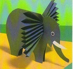olifant met accordeon papier