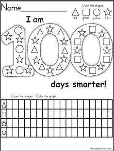 Krissy of B-Inspired Mama has rounded up 100 awesome and FREE Printables to celebrate The 100th Day of School! 100s Day, 100 Day Celebration, Graphing Activities, School Worksheets, Printable Worksheets, Free Printables, Free Worksheets, Kindergarten Activities, Preschool