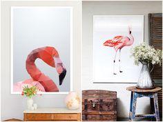 Quadros de flamingos (2)