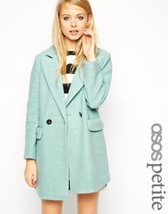 €135, Mintgrüner Mantel von Asos. Online-Shop: Asos. Klicken Sie hier für mehr Informationen: https://lookastic.com/women/shop_items/143983/redirect
