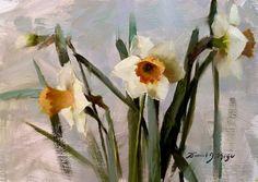 Daniel James Keys | Pink Narcissus med (700x496, 145Kb)