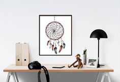 Dreamcatcher Print, Printable Wall Art, Don't be afraid to dream big, Digital Poster, Home Decor, Printable Wall Art, Nursery Print wp213 by dreamONprints on Etsy
