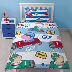Product review for Peppa Pig George Speed 2 Piece UK Single/US Twin Sheet Set  1 x Double Sided Sheet and 1 x Pillowcase (PEGSPEDS001).  - We know how important a good night's sleep is to a child and that their bedroom is the one place that they can truly express themselves. The best loved characters become part of a child's world and they want their new friend to share everything with them. We understand that at....  Continue reading at  https://www.bestsellerout