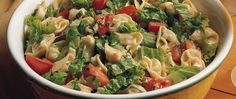 Fresh basil, tomato and a delicious Dijon dressing flavor this tortellini toss for a simple lunch or dinner.