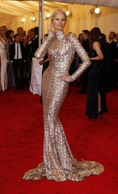 Get The Look: Karolina Kurkova In Rachel Zoe-Designed Sequins