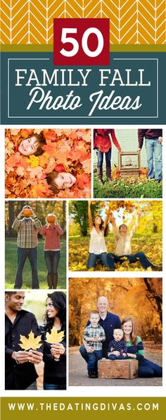 Ideas for a fall family photoshoot. Location ideas, pose ideas, prop ideas and more! Such great ideas! www.TheDatingDivas.com