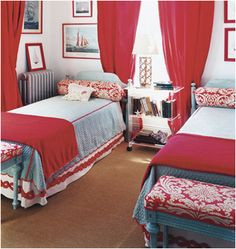 Key Interiors by Shinay: Decorating Girls Room With Two Twin Beds