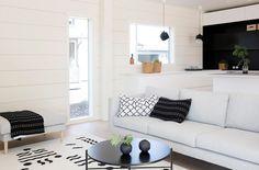 Markki - scandinavian style living room and open kitchen