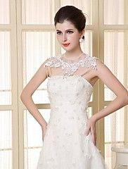 Wedding  Wraps Capelets Lace/Satin Matching Bri... – USD $ 59.99