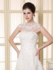 Wedding  Wraps Capelets Lace/Satin Matching Bri... – USD $ 59.99