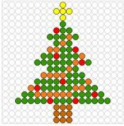 Deze kralenplank en vele andere in het thema kerstmis kun je vinden op de website van Juf Milou. Melt Beads Patterns, Easy Perler Bead Patterns, Beading Patterns, Embroidery Art, Cross Stitch Embroidery, Cross Stitch Patterns, Beaded Crafts, Beaded Ornaments, Christmas Perler Beads