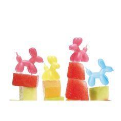【パーティーピック】Balloon Dog Party Picks (9pcs set)
