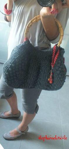 TUTO - Mon sac pour la rentrée : tricoté en rangs raccourcis et points…