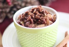 Ten-minute Apple Crisp