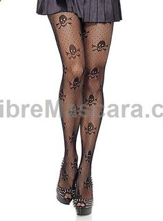 Skulls and Dots Fishnet Tights at ShopPlasticland.com #pantyhose #sexy #ladies #women #ladyproducts #lush #smooth #fashion #stunning #legs #glamour