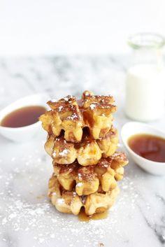 Make mini Cinnamon French Toast Waffle Dunkers for breakfast.