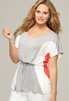 GREAT way to use colorblocking to define/give shape! (Avenue.com, $49)