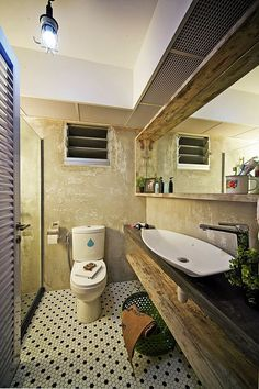 The Studio Pte Ltd - Singapore Preferred and Best Interior Designer Firm Vintage Industrial Decor, Industrial Bathroom, Industrial House, Bathroom Renovations, Budget Bathroom, Design Awards, Interior Inspiration, Building A House, Home Furniture