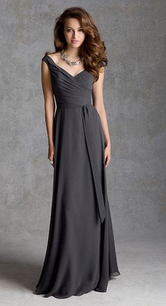 Angelina Faccenda 20424 Off Shoulder Long Bridesmaid Dress - French Novelty