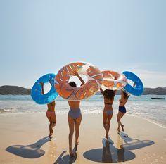 Floaties on the beach