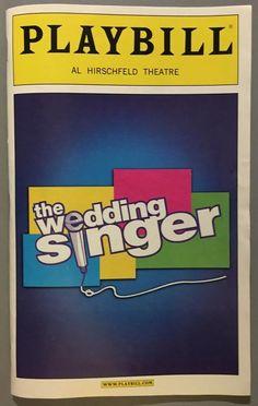 The Wedding Singer Broadway NYC Playbill w/Constantine Maroulis (American Idol)