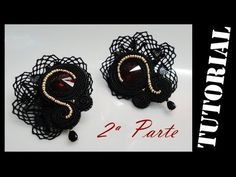 How to do Soutache Bead Embroidery: Part 1 How to Make a Shaping Stitch… Tutorial Soutache, Earring Tutorial, Shibori, Soutache Necklace, Imitation Jewelry, Try It Free, Beaded Embroidery, Crochet Earrings, Handmade Jewelry