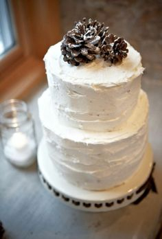 "love the frosting look on on this - maybe a small 6"" if you feel you want a cake to cut!"