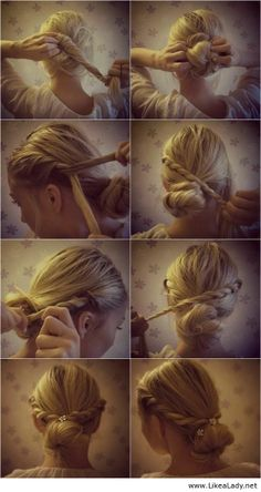 Cute hairstyle for a romantic look