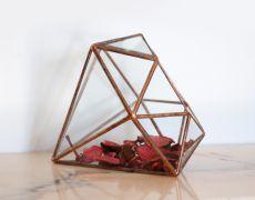 Terariu din sticla / suport pentru plante / obiect decorativ handmade/