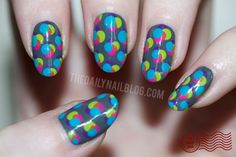 This super easy nail art only requires a dotting tool...or a toothpick...or a pin...or a nail...well, you get the idea.