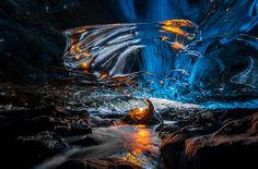 Skaftafell Ice Cave, Vatnajökull National Park, Iceland.  This is definitely going on the list of must stop places.