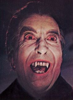 Christopher Lee as Dracula.