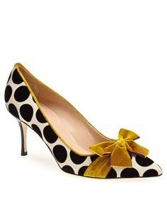 polka dots and gold