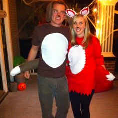 DIY fox and the hound costumes. DIY fox costume. DIY hound costume. I made these with felt, a glue gun, and batting! Super easy! The ears are glued onto headbands.
