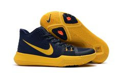 """6e642db1a58c Find Big Discount Girls Nike Kyrie 3 """"Cavs"""" Deep Blue Yellow online or in  Jordanremise. Shop Top Brands and the latest styles Big Discount Girls Nike  Kyrie ..."""