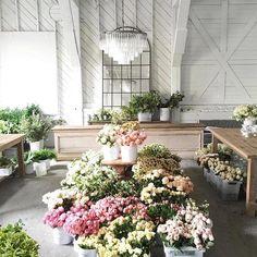 studio inspo via @sinclairandmoore  #designinspo #floralstudio #workshop #florist #interior #weddingflorist #goals