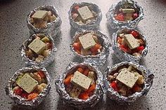 Grilling Recipes Vegetable parcels for the barbecue 10 Bbq Steak, Bbq Grill, Barbecue Recipes, Grilling Recipes, Mozarella, Homemade Carrot Cake, Grill N Chill, Foil Pack Meals, Grill Party